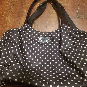Kate Spade polkadot black and white diaper bag